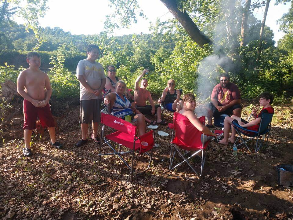 Camp Tomahawk Tent RV Camping Cookout