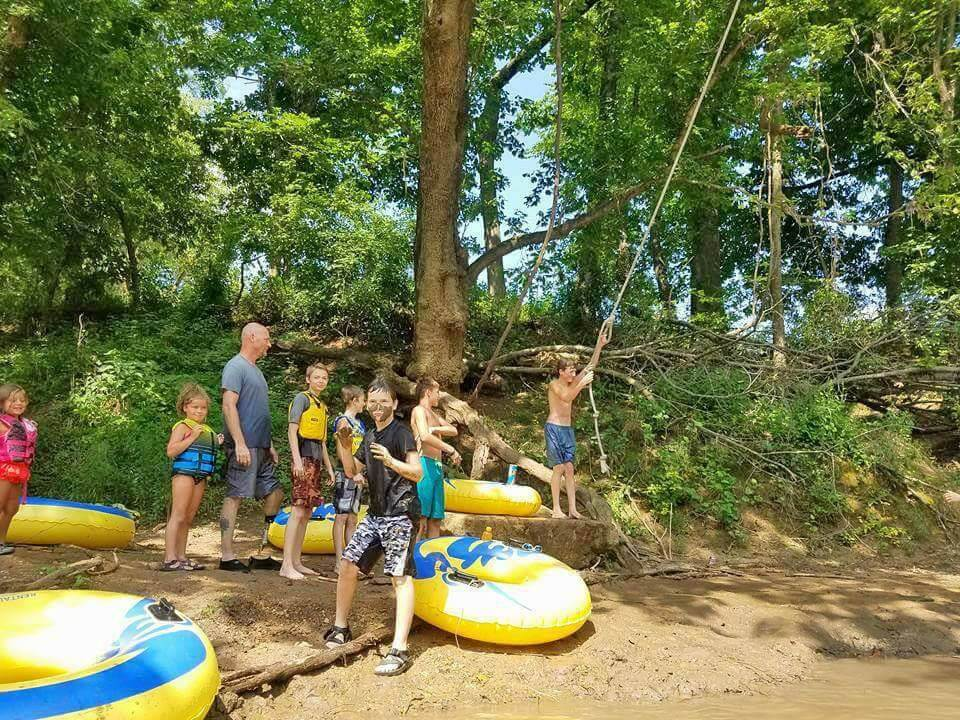 tube float James river mo
